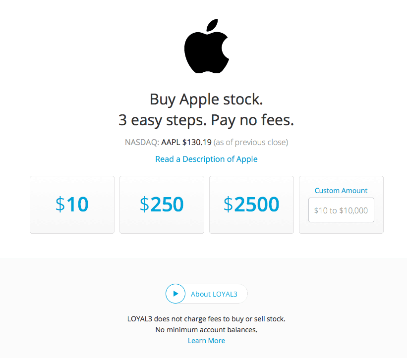 How to buy Apple Stock with Loyal3