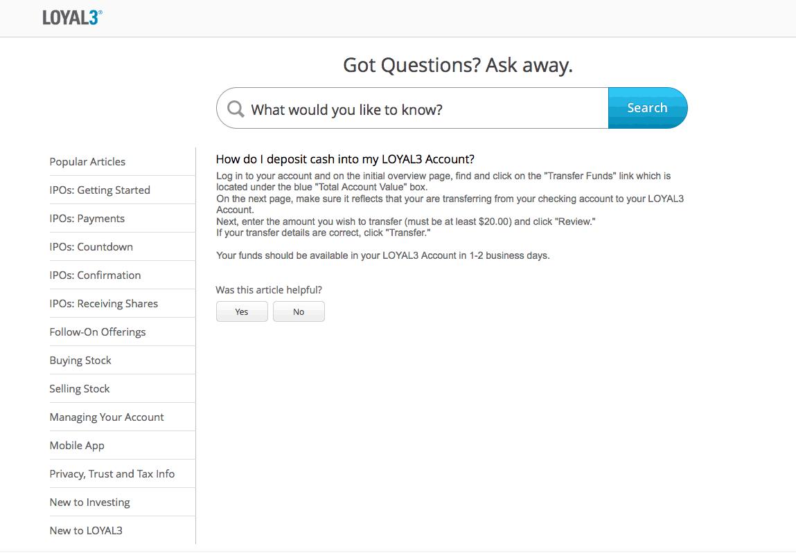 Loyal3 FAQ