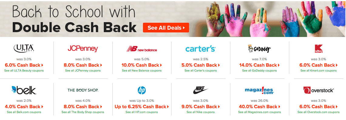 Ebates Cash Back Deals