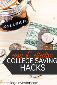 Trying to save for college? Check out these savings hacks for some of the best ways you can start saving you or your child's college education!