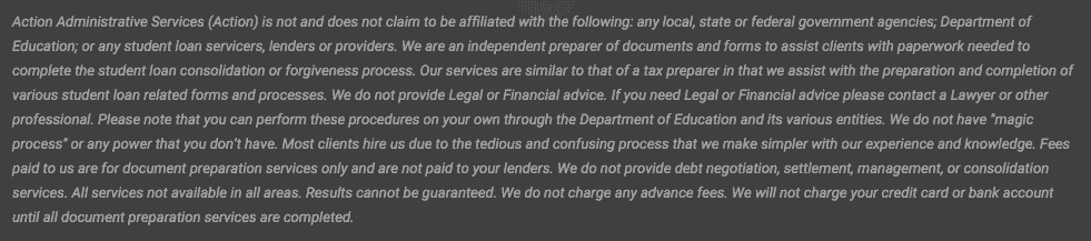 Student Aid Disclaimer