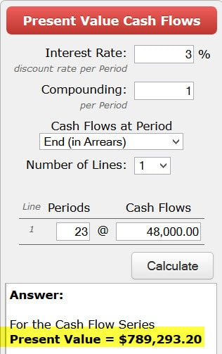 use a calculator to figure out retirement savings