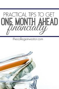 If you're living paycheck to paycheck one of the first things you should is try and get one month ahead financially. Here are some practical tips to help.