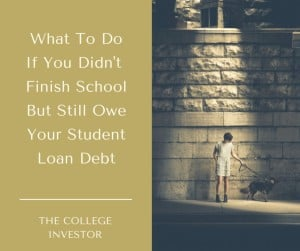What To Do If You Didn't Graduate School But Still OweYour StudentLoan Debt