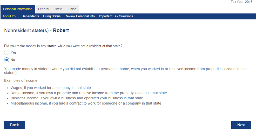 eSmart Tax Questions