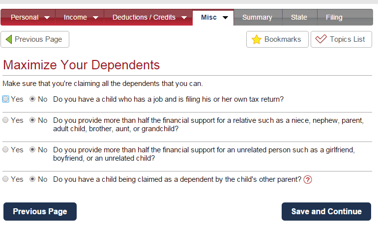Maximize Your Dependents
