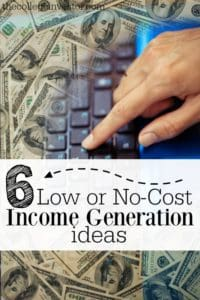 Do you have a financial goal you're trying to quickly reach? If so, here are six low or no-cost income generation ideas to help.