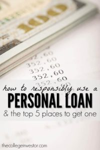 There are many ways you can responsibly use a personal loan to benefit your finances, like paying off high credit card debt for example. Here are five of the best places to get a personal loan online.