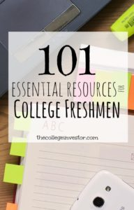 101 Resources For College Freshmen