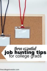 """It's a rough job market but it's not hopeless. If you're looking for your first """"real"""" job here are three essential job hunting tips for college grads."""