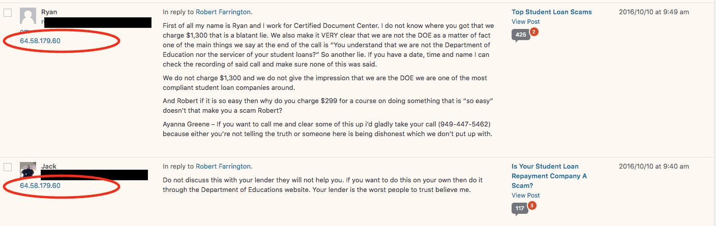 Certified Document Center Fake Reviews