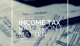 Tax Brackets Don't Really Matter