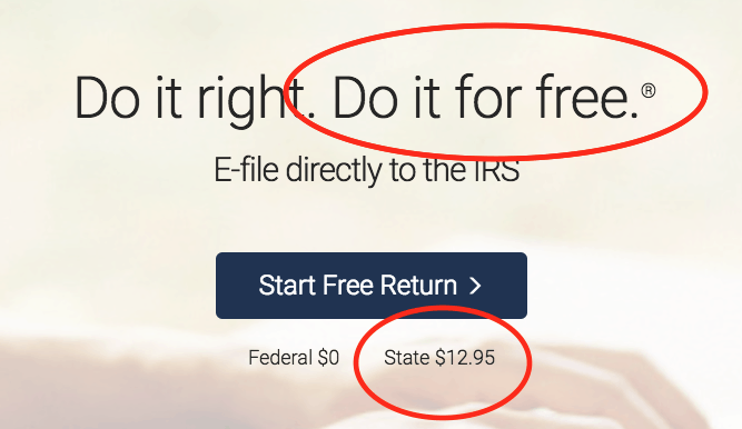 FreeTaxUSA Not Free