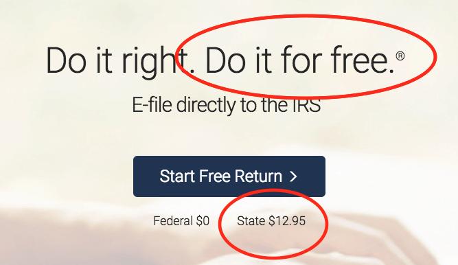 FreeTaxUSA Not Free