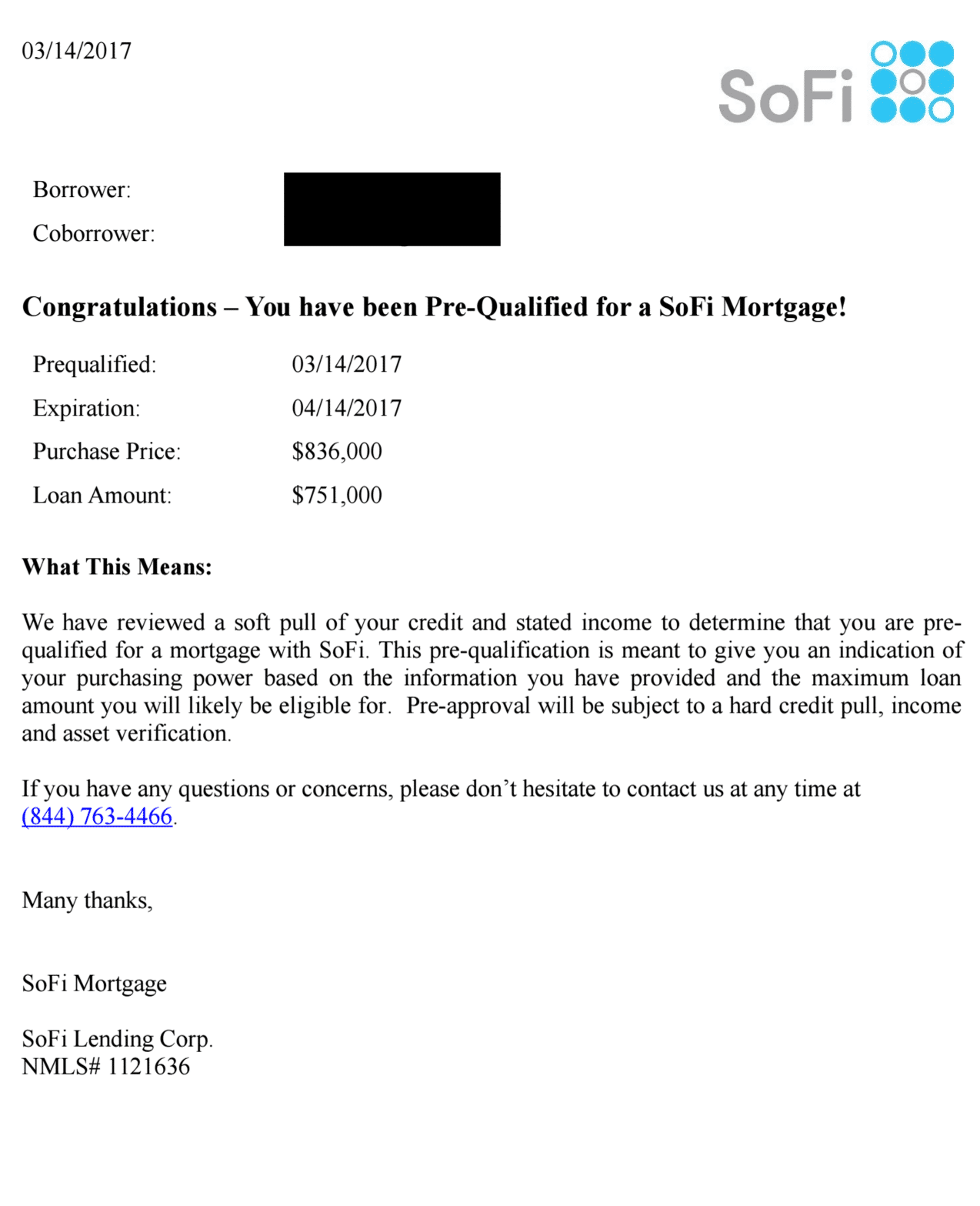 pre approval letter sofi mortgage review pre qualification 1543